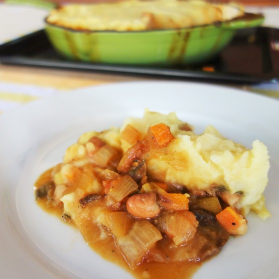 Cottage pie with  Borlotti beans and Porcini mushrooms