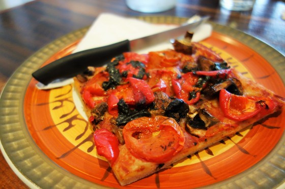 Foccaccia Roasted Tomato, Capsicum & Mushroom  from Crumbs Organic Bakehouse, Ascot Vale