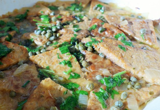 Tempeh Piccata from Chloe's Kitchen (Chloe Coscarelli)